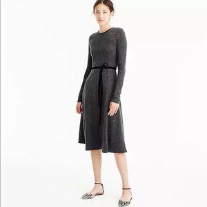 J. Crew gray flare knit midi dress 0 $228